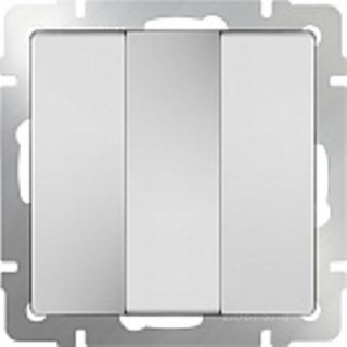 Выключатель трехклавишный WL01-SW-3G белый