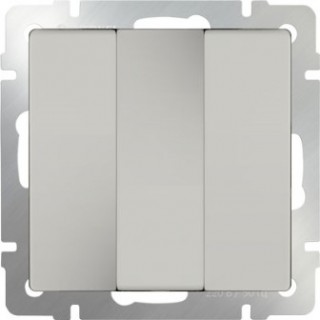 Выключатель трехклавишный WL03-SW-3G слоновая кость
