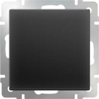 Выключатель одноклавишный проходной WL08-SW-1G-2W черный