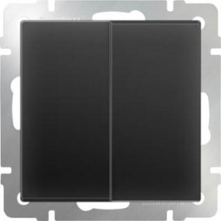 Выключатель двухклавишный WL08-SW-2G черный