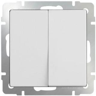 Выключатель двухклавишный WL01-SW-2G белый