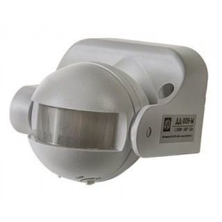 Датчик движения инфракрасный ДД-009-W, 1200 Вт, белый