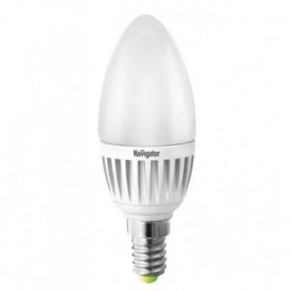 Лампа светодиодная свеча 5Вт Е14 2700К Navigator