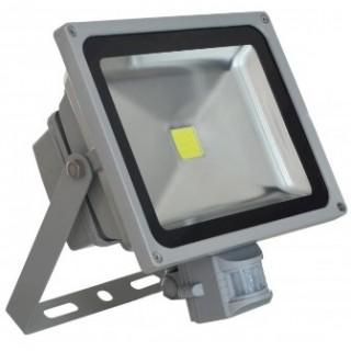 Прожектор светодиодный с датчиком движения 30 Вт холодный белый