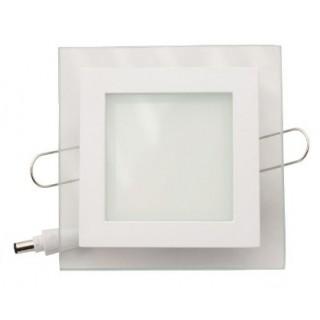 Светильник встраиваемый квадратный 8W 4000K белый