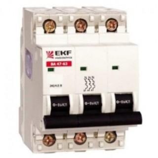 Автоматический выключатель ВА 47-100 3P 125А (C) 10kA PROxima