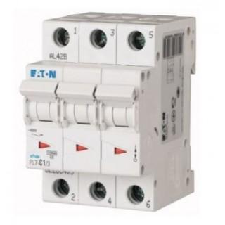 Автоматический выключатель PL7-C1/3, 3P, 1A, ХАР-КА C, 10KA, 3M