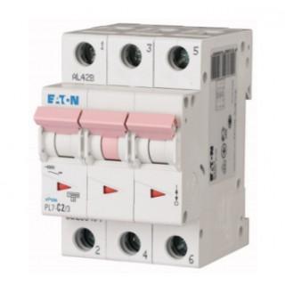 Автоматический выключатель PL7-D2/3, 3P, 2A, ХАР-КА D, 10KA, 3M
