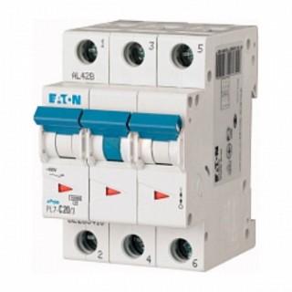 Автоматический выключатель PL7-D20/3, 3P, 20A, ХАР-КА D, 10KA, 3M