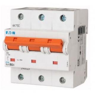 Автоматический выключатель PLHT-D63/3, 3P, 63A, ХАР-КА D, 25KA, 4.5M