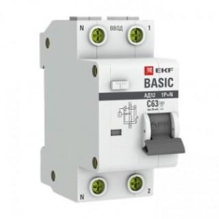 Дифференциальный автомат 1P+N 16А/30мА тип АС х-ка С эл. 4,5кА АД-12 EKF Basic