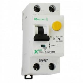 Дифференциальный автомат PFL6 1P+N 6А 30мА тип С 6кА EATON-(MOELLER)