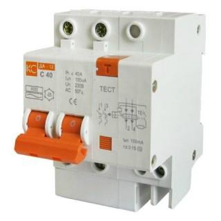 Дифференциальный автоматический выключатель ДА12 2Р 10А