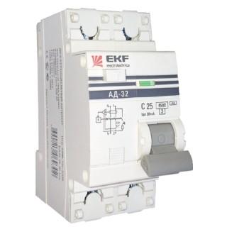 Дифавтомат АД-32 2п 16А/30мА 4,5кА С (электронный) EKF PROxima