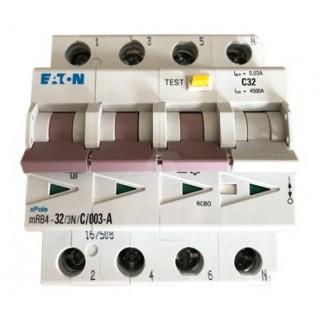 Автомат дифференциальный MRB4-32/3N/C/003-A, 3P+N, 32A, ХАР-КА C, 4.5KA, 30MA, ТИП А, 4M