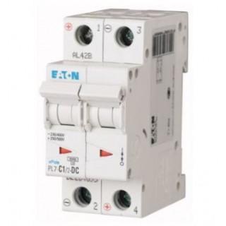 Автоматический выключатель PL7-C1/2-DC, 2P, 1A, ХАР-КА C, 10KA, 250VDC, 2M