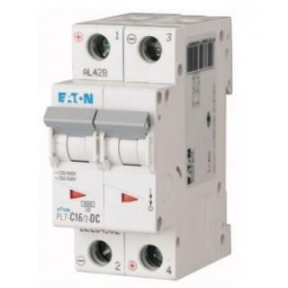 Автоматический выключатель PL7-C16/2-DC, 2P, 16A, ХАР-КА C, 10KA, 250VDC, 2M