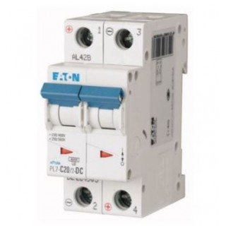 Автоматический выключатель PL7-C20/2-DC, 2P, 20A, ХАР-КА C, 10KA, 250VDC, 2M