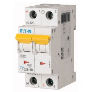 Автоматический выключатель PL7-C25/2-DC, 2P, 25A, ХАР-КА C, 10KA, 250VDC, 2M