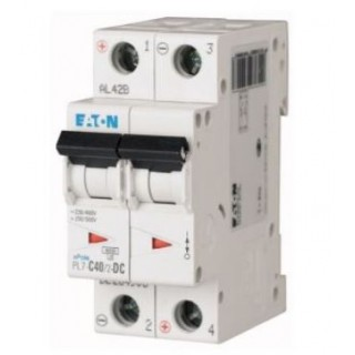 Автоматический выключатель PL7-D40/2, 2P, 40A, ХАР-КА D, 10KA, 2M