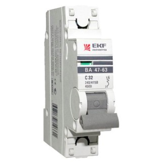 Автоматический выключатель ВА 47-63 1P 25А(С) 4,5кА EKF PROxima