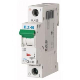 Автоматический выключатель PL7-C6/1-DC, 1P, 6A, ХАР-КА C, 10KA, 250VDC, 1M