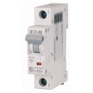 Автоматический выключатель HL-B63/1, 1P, 63A, ХАР-КА B, 4.5KA, 1M