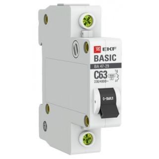 Автоматический выключатель ВА 47-29 1P 16А(С) 4,5кА EKF
