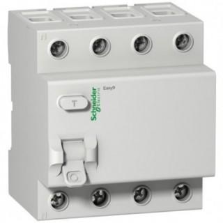 Дифференциальный выключатель нагрузки (УЗО) EASY 9 4П 63А 30мА AC