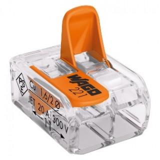Клеммы WAGO 221-412 (2х4,0мм2 с рычажком) (упаковка 100 шт)
