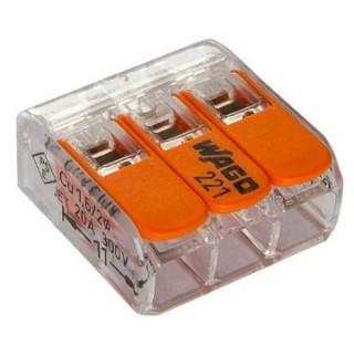 Клеммы WAGO 221-612 (2Х6,0мм2 с рычажком) (упаковка 50шт.)
