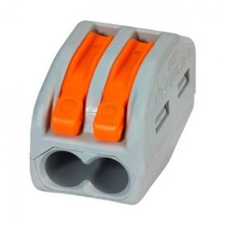 Клеммы WAGO 222-412 (2х2,5мм2 с рычажком) (упаковка 50 шт)