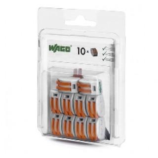 Клеммы WAGO 222-412/996-010 (2Х2,5мм2) (блистер 10шт.)