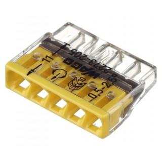 Клеммы WAGO 2273-245 (5х2,5мм2 с пастой) (упаковка 100 шт)