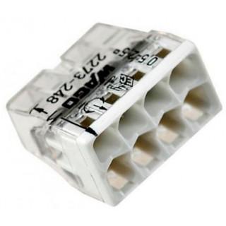 Клеммы WAGO 2273-248 (8х2,5мм2 с пастой) (упаковка 50 шт)