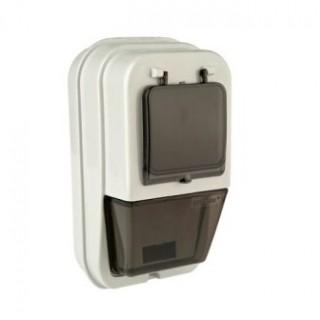 Щиток под однофазный электронный/механический счетчик IP54 встр. (0844) (под два 1-полюсных автомата или под один 2-х полюсный автомат)