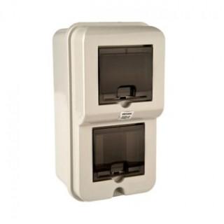 Щиток под однофазный электронный/механический счетчик IP54 встр. (0845) (под один 3-х полюсный автомат)