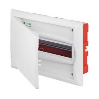 Щит встраив. ECO BOX 1x12M, N/PE 2x 2x16+7x10mm2, белая пласт. дверь, белый RAL9003, IP40