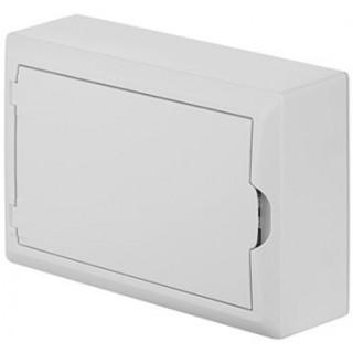 Щит навесной ECO BOX 1x12M, N/PE 2x 6x16+3x10mm2, белая пласт. дверь, белый RAL9003, IP40