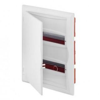 Щит встраив. ECO BOX 2x12M, N/PE 3x 2x16+7x10mm2, белая пласт. дверь, белый RAL9003, IP40