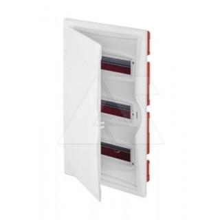 Щит встраив. ECO BOX 3x12M, N/PE 4x 2x16+7x10mm2, белая пласт. дверь, белый RAL9003, IP40