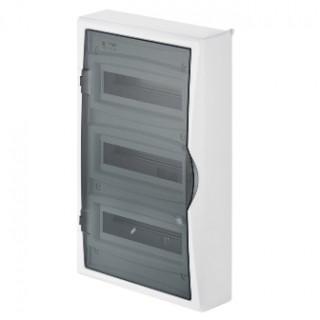 Щит навесной ECO BOX 3x12M, N/PE 4x 6x16+3x10mm2, дымчатая пласт. дверь, белый RAL9003, IP40