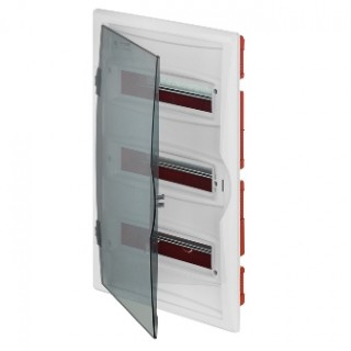 Щит встраив. ECO BOX 3x12M, N/PE 4x 2x16+7x10mm2, дымчатая пласт. дверь, белый RAL9003, IP40
