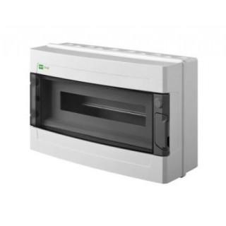 Щит навесной EP-LUX 1x18M, N/PE 2x 8x16+6x10mm2, дымчатая пласт. дверь, светло-серый RAL7035, IP65