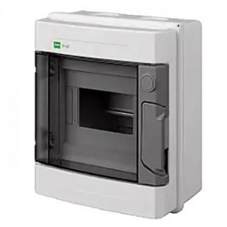 Щит навесной EP-LUX 1x6M, N/PE 4x 2x16+3x10mm2, дымчатая пласт. дверь, светло-серый RAL7035, IP65