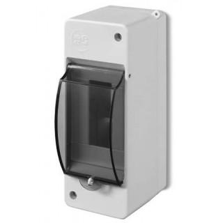 Коробка электротехническая для пломбировки MINI S-2, 2M, без клемм, дымчатая дверца, IP30