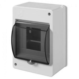 Коробка электротехническая для пломбировки MINI S-4, 4M, без клемм, дымчатая дверца, IP20