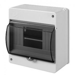 Коробка электротехническая для пломбировки MINI S-6, 6M, без клемм, дымчатая дверца, IP20