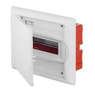 Щит встраив. ECO BOX 1x8M, N/PE 2x 2x16+5x10mm2, белая пласт. дверь, белый RAL9003, IP40