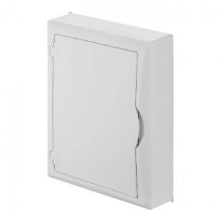 Щит навесной ECO BOX мультимед, TS35+1x МП перф.118x270mm, белая пласт. дверь, белый RAL9003, IP40
